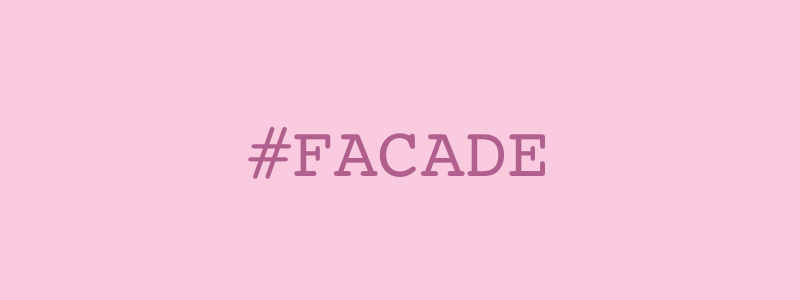 #FACADE - hexadecimal color code produces a shade of pink