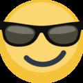 Facebook Smiling Face With Sunglasses Emoji