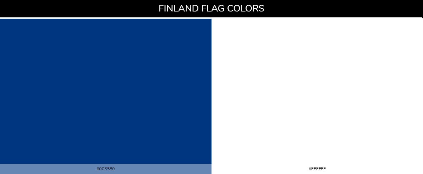Finland Country Flags color codes - Blue #003580, White #ffffff
