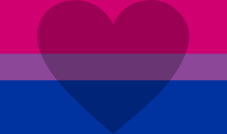 Biromantic flag- stripes of pink, purple and blue