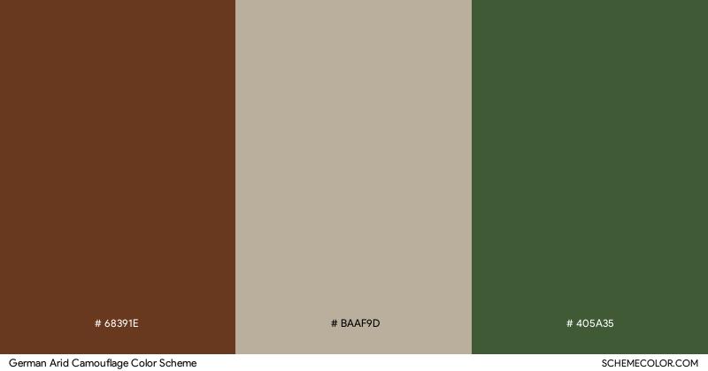 German Arid Camouflage color scheme