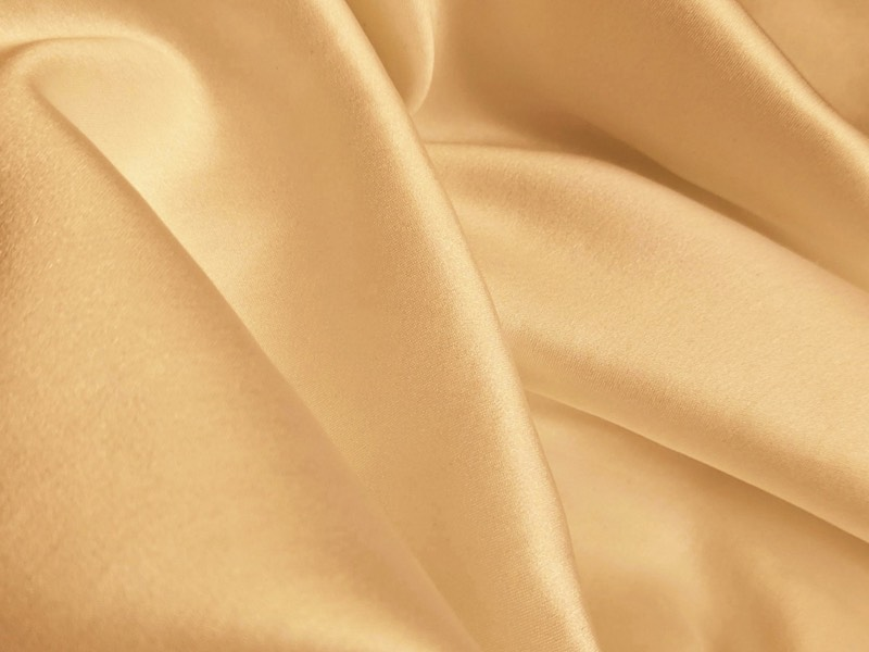 Gold colored velvet fabric