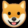 Google Dog Face Emoji