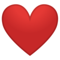 Google Red Heart Emoji