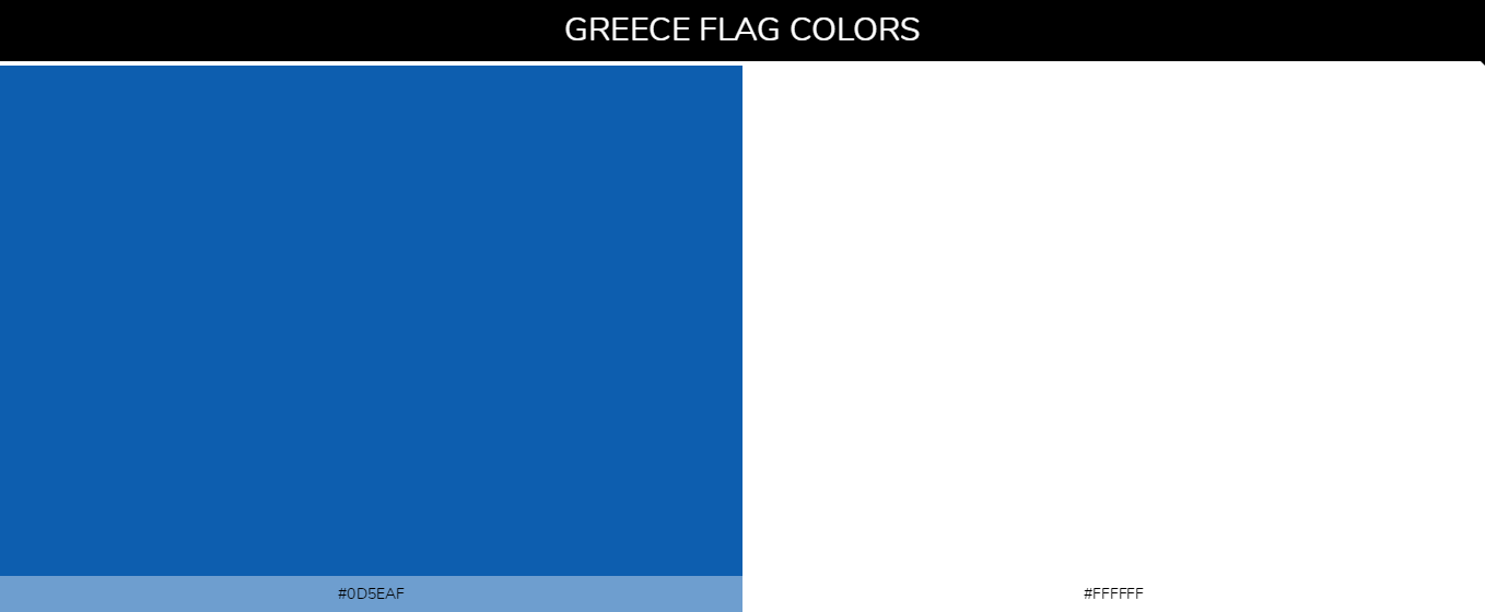 Greece Country Flag color codes - Red #ce1126, Yellow #fcd116, Black #000000, Green #006b3f
