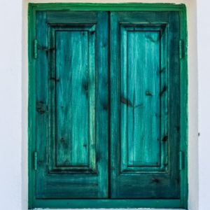 Green Shutter Window