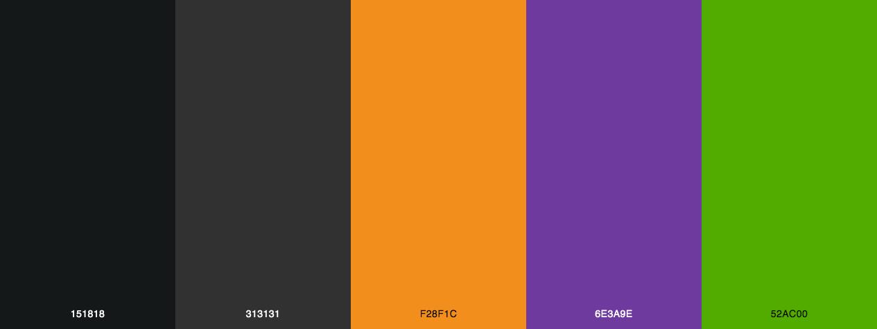 Halloween Scares - Color scheme - color palette