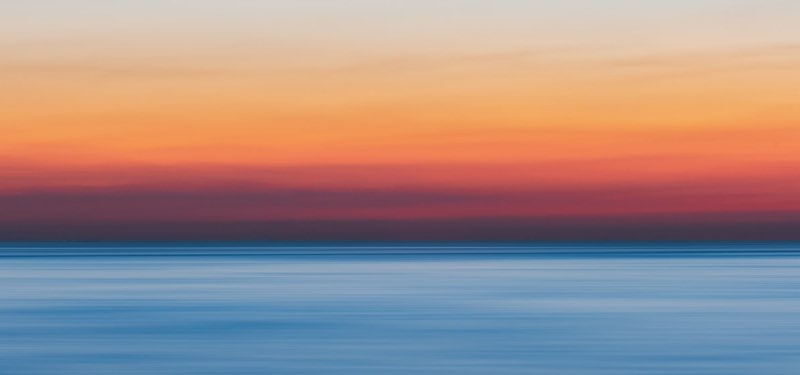 Hazy colors of the sunset
