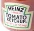 Heinz logo on a ketchup bottle