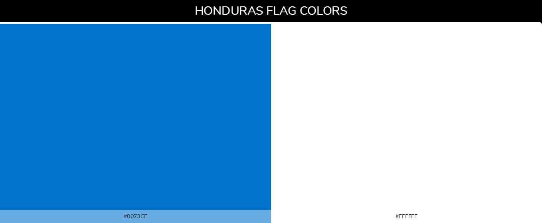 Honduras Country Flag color codes - Blue #0073cf, White #ffffff