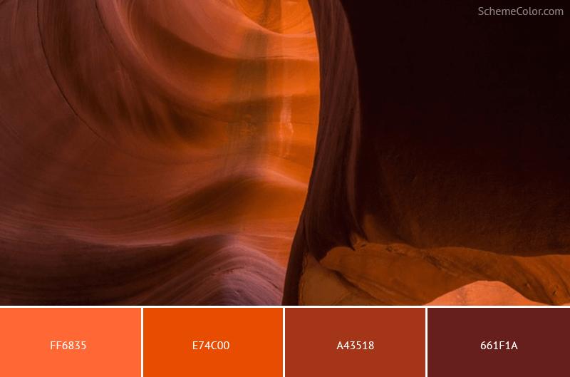 Hot Rocks - Image colors combination