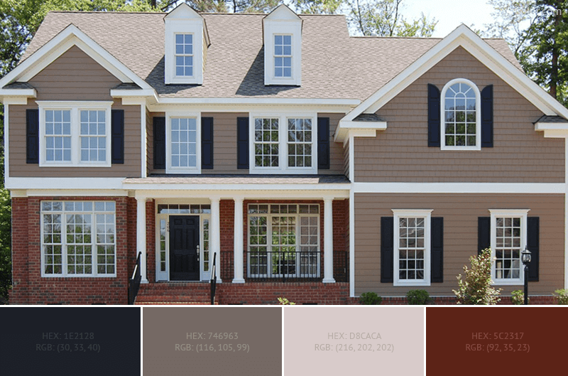 Beautiful House Exterior Color Schemes Pictures - Interior Design ...