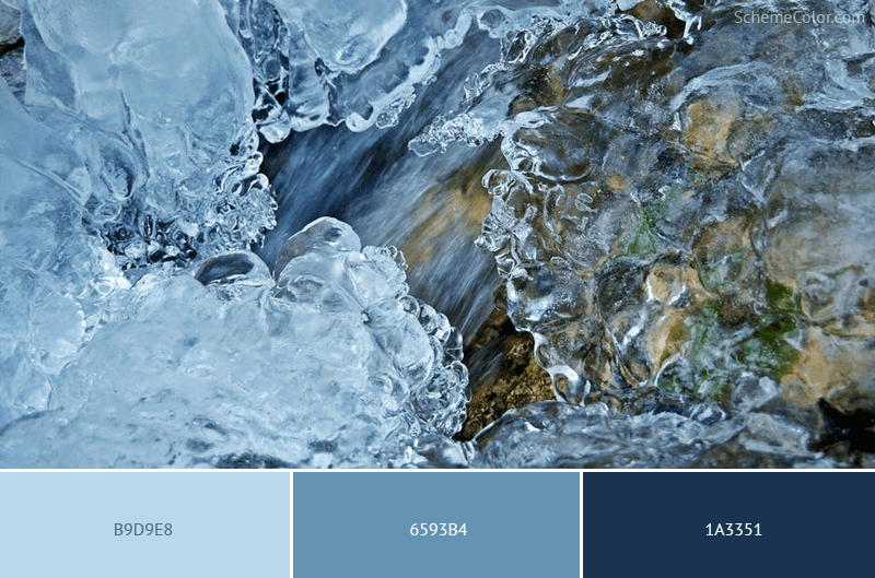 Icy Rocky River - Image colors combination