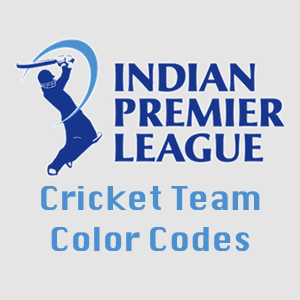 Indian Premier League - Color codes of all cricket teams