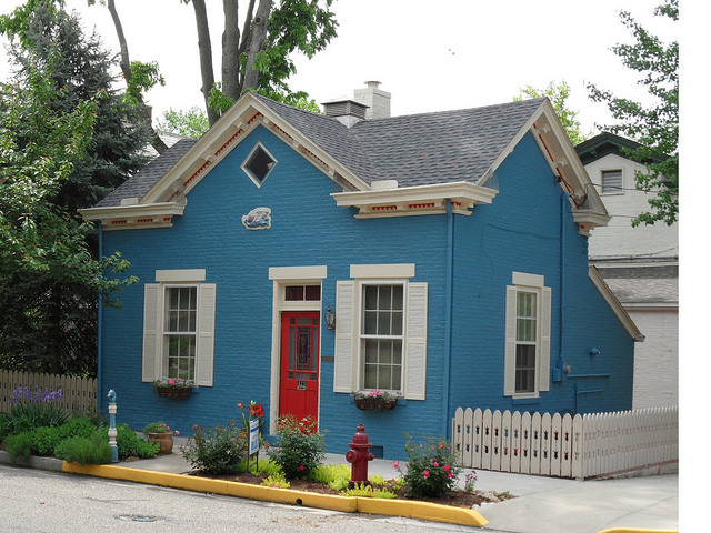 Indiana Blue house