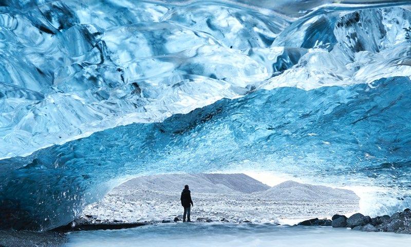 Inside a Glacier