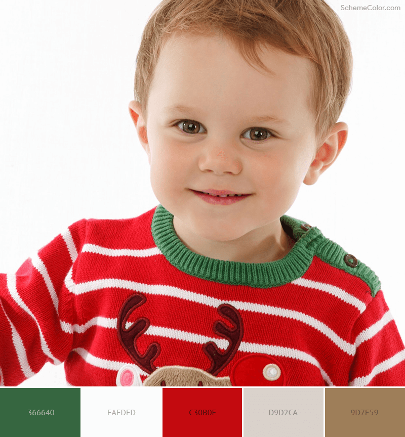 Kids Christmas Sweater color scheme