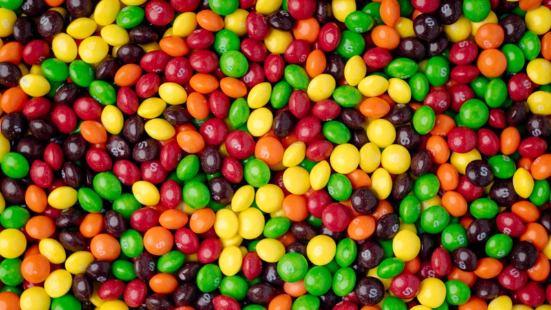 Lots of Skittles Candy