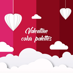 Lovely Valentine color palettes that boosts your creativity