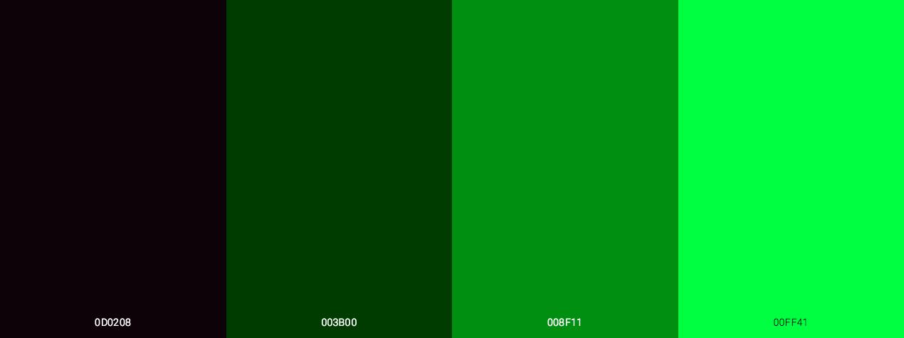 Matrix Code Green Shades