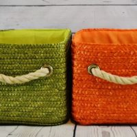 Memory Baskets Green and orange