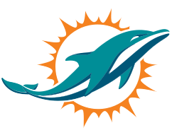 Miami Dolphins Logo with colors