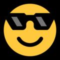 Microsoft Smiling Face With Sunglasses Emoji