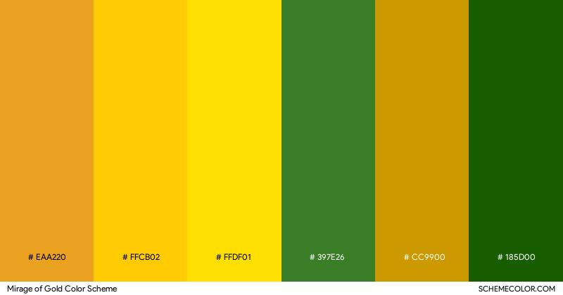 Mirage of gold color palette