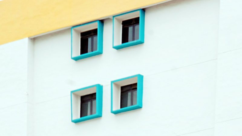 Residence building with modern exterior paint colors