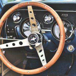 Dashboard of a Ford Mustang car