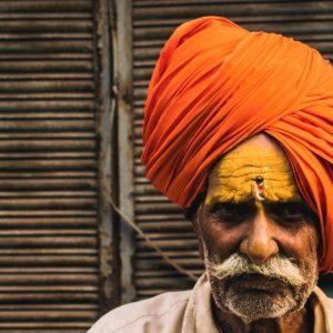 Turban wearing Indian man