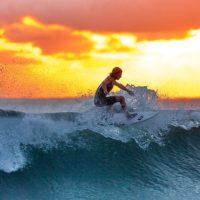 Ocean Sunset Wave