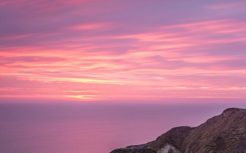Sunset on an ocean