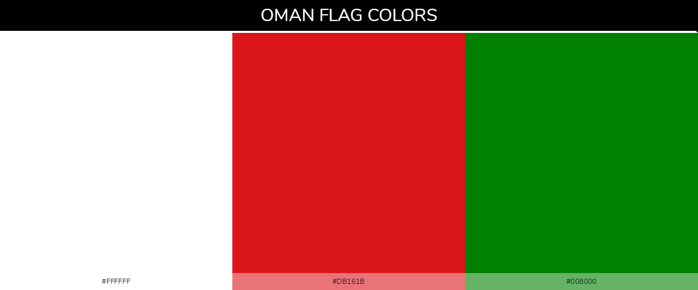 Norway country flags color codes - White #ffffff, Red #db161b, Green #008000