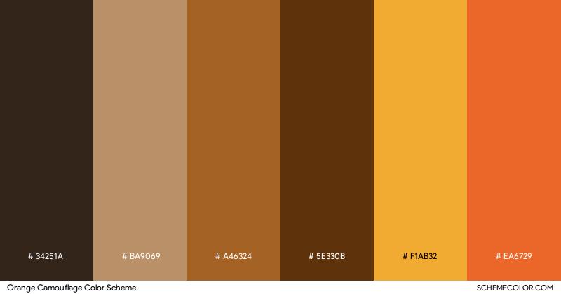 Orange Camouflage color scheme