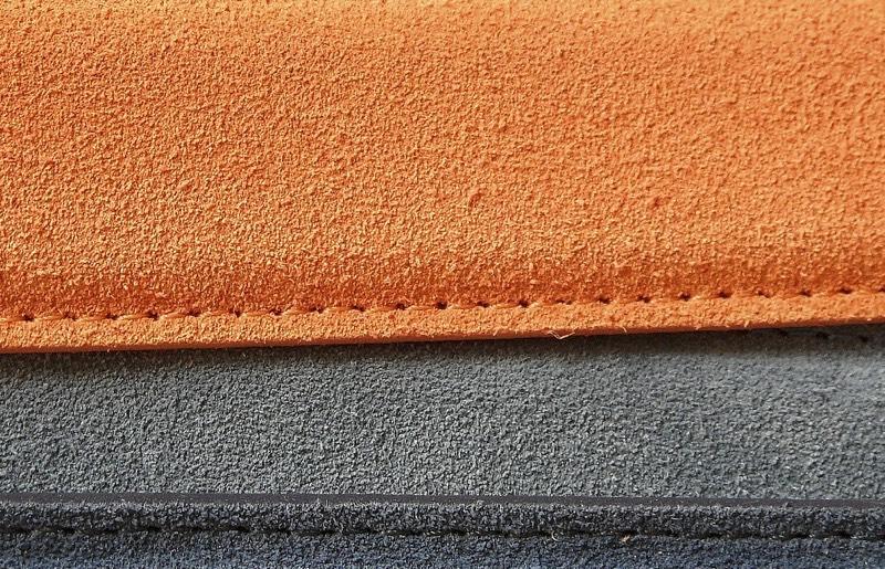 Orange Grey Leather Belts