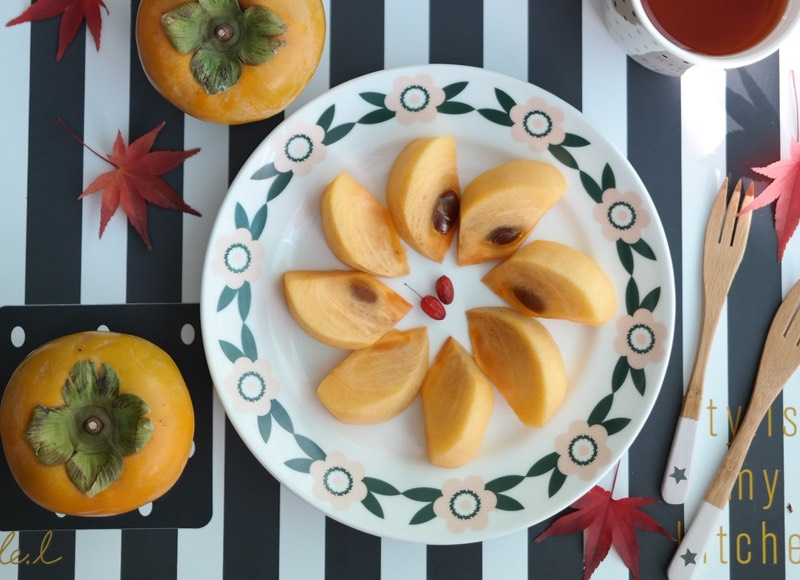 Persimmon Fruit Plate