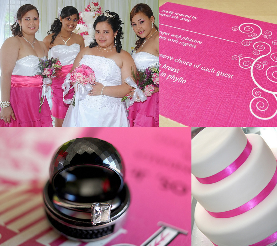 Wedding photos with pink theme