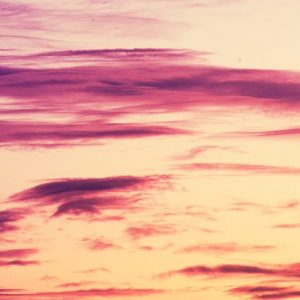 Sunset with purple colored clouds
