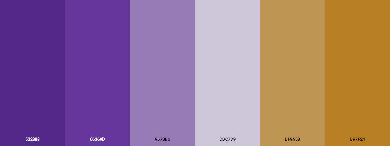 Purple With Gold Color Scheme