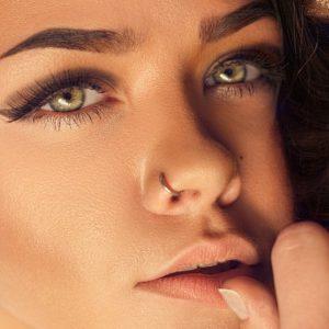 Real lips and natural skin