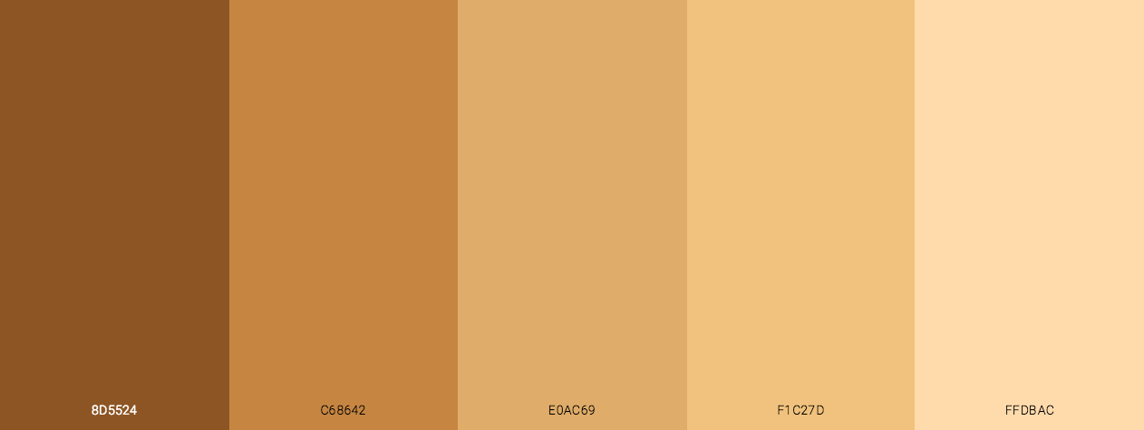Real Skin tones color scheme palette