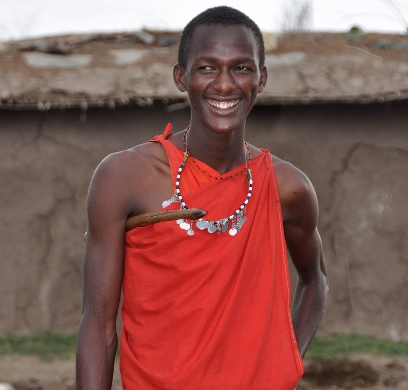 Red Masai Warrior