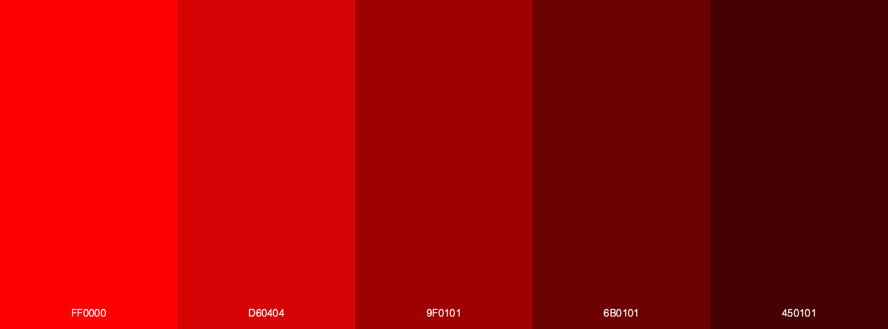Red To Chocolate color palette