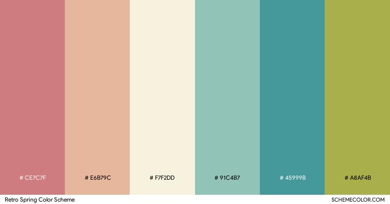 Retro Spring color scheme
