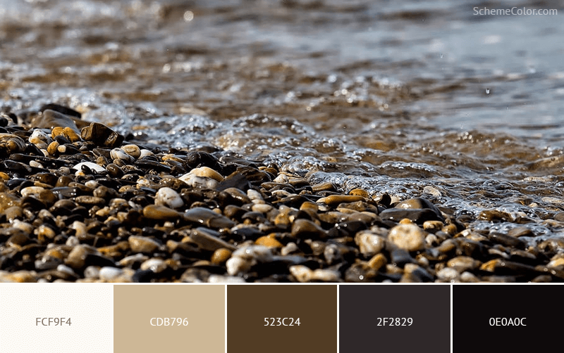 Rocks on a Beach - Image colors combination