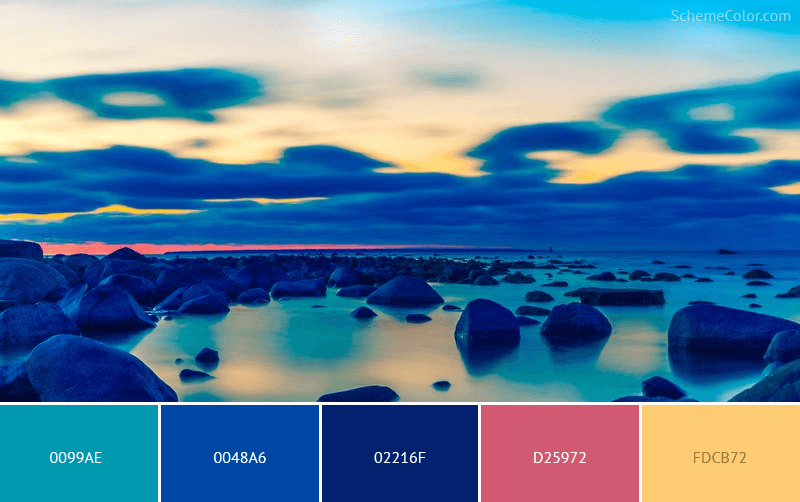 Rocky Blues - Image colors combination