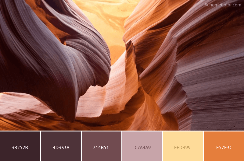 Rocky Canyon - Image colors combination