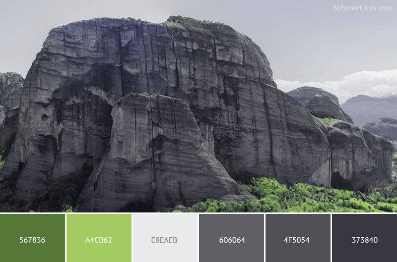 Rocky Cliff - Image colors combination