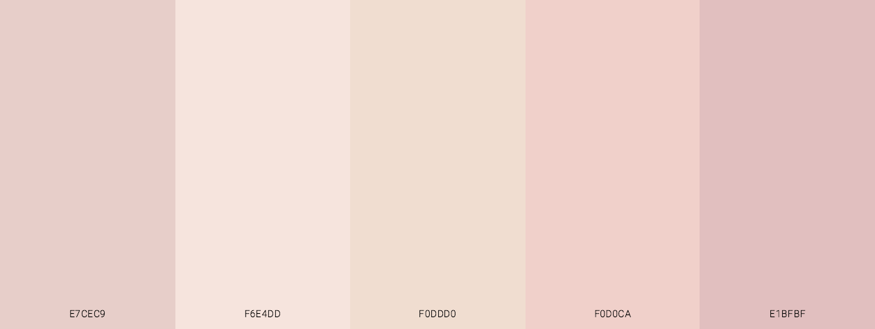 Rosey Skin Color Scheme